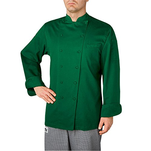 Chefwear WINDSOR COTTON CHEF COAT (5070) (kelly green, 5xl)