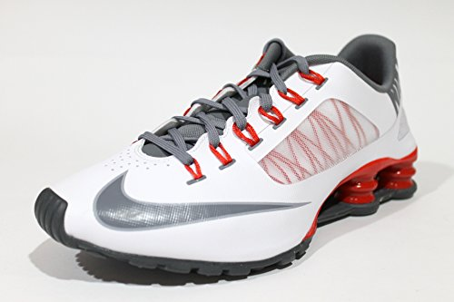 63dc86059a33bb outlet Nike Men s Shox Superfly R4 White Red Running Shoes 653480 100 size  10