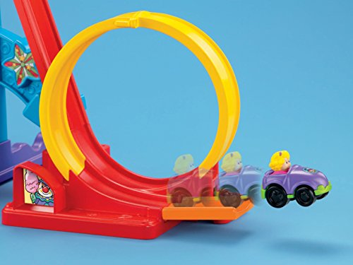 41DNJESmfEL - Fisher-Price Little People Loops 'n Swoops Amusement Park [Amazon Exclusive]