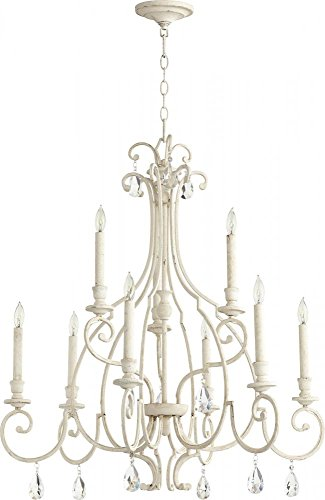 Quorum Lighting (6014-9-70) Ansley Transitional Chandelier in Persian White