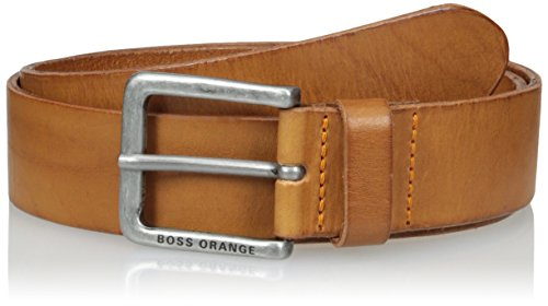 BOSS Orange Men's Jeek Casual Leather Belt, medium brown 36 US-95 EU