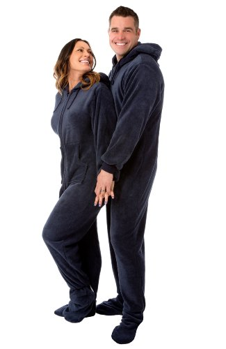 Extra-Large Footed Pajamas with Hood and Drop Seat - Men's Plus ...