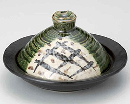 Oribe for 1-2 persons 7.3inch Donabe Japanese Hot pot Green Ceramic Made in Japan by Watou.asia
