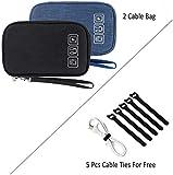 Cable Organizer Bag, 2PCS Travel Cord Organizer