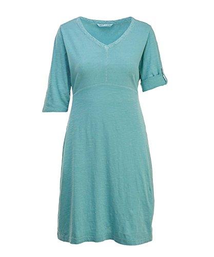 Woolrich Women's First Forks Convertible Sleeve Dress, Aqua Sky, XX-Large