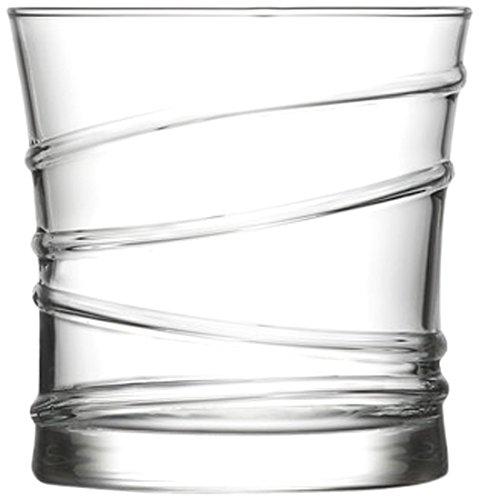 Lyra Glassware Ring Dof Drink Glass Set, 320ml, Set of 6, Transparent
