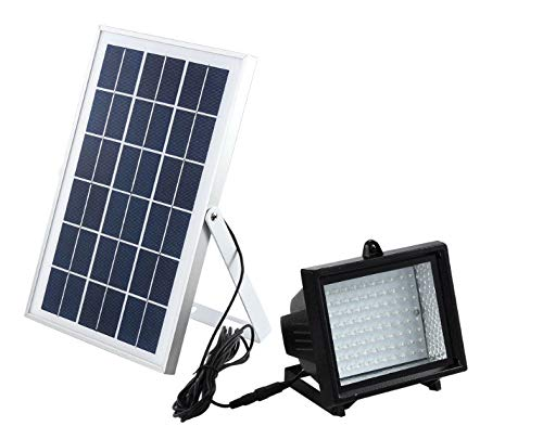 - Bizlander 60LED Solar Flood Light for Garden, Camping, Sign, Parking Lot, Shed, Farm