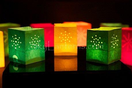 Sky Lanterns Lot de 12 photophores en papier Petite taille