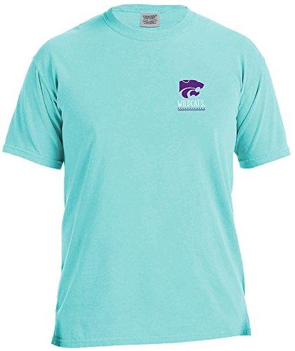NCAA Kansas State Wildcats Life Is Better Comfort Color Short Sleeve T-Shirt, Island Reef,IslandReef
