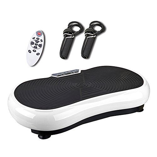 Pinty Full Body Exercise Vibration Platform Crazy Fit Fitness Machine (White) (Vibration Body Machine Whole)