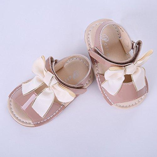 Pettigirl Mädchen Bogen Sandalen Flache Fersen Kinder Sommer Party Hochzeit Baby Schuhe Kamel