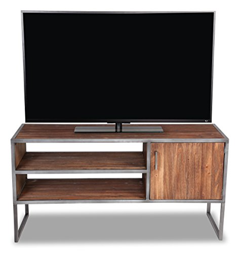 Belmont Home AZ 2-Shelf Media TV Stand, Natural Distressed 48 Inch Tv Stand