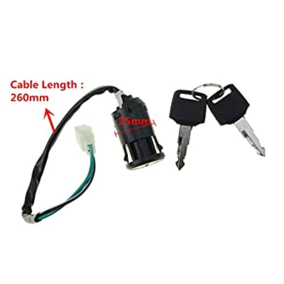 WOOSTAR 2 Wire Ignition Switch with 2 Keys On-Off Lock for Electrical Scooter 2 Position: Industrial & Scientific