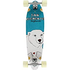 "Experience the thrill of cruising the streets at high speeds with the San Clemente Longboards Everything Drains Heart-A Mid Squash Longboard Complete Skateboard! This professional quality San Clemente Longboards Longboard measures 9"" wide x 3..."