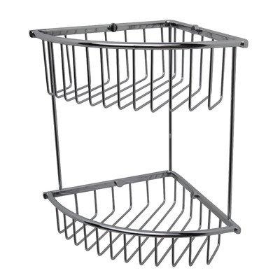 Essentials Double Corner Wire Soap Basket Finish: Polished Nickel (Valsan Basket Soap)