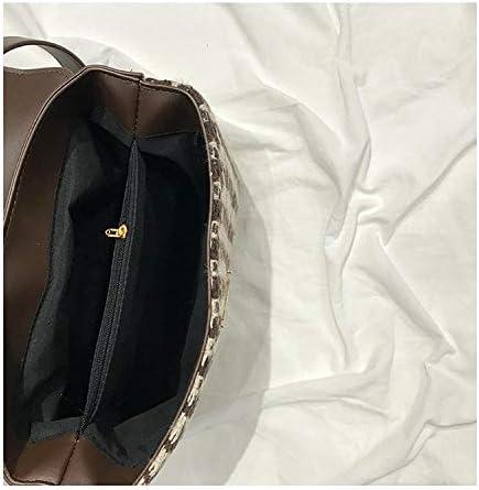 Sacs à Main portés Main Femme Nouveau Sac à bandoulière d'épaule de Grande capacité d'atmosphère Sauvage de Serviette de Treillis de Mode