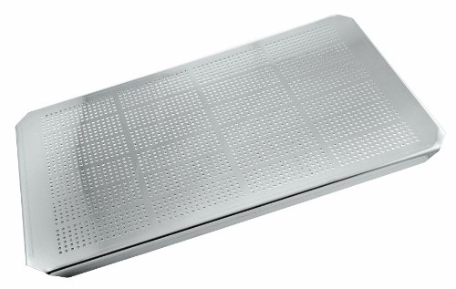 Paderno World Cuisine 12 1/2 inches by 10 1/2 inches Stainless-steel Drainer Plate for Hotel Pan - 1/2 Stainless Steel Gastronorm Pan