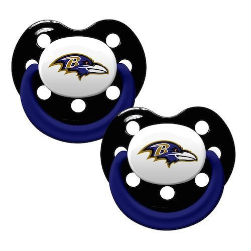 Baby Fanatic Pacifier, Baltimore Ravens by Baby - Baltimore Shopping Mall
