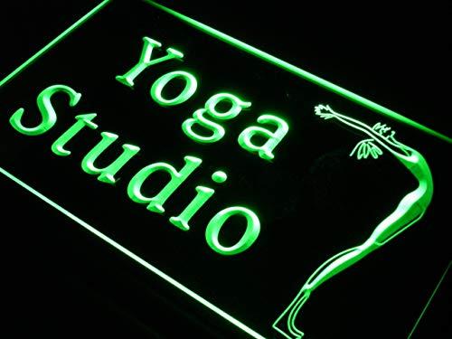 ADVPRO Yoga Studio Fitness Center Gym LED看板 ネオンプレート サイン 標識 White 600 x 400mm st4s64-s146-w B07GNRCCGJ 24