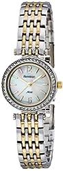 Armitron Women's 75/5229MPTT Swarovski Crystal Accented Two-Tone Bracelet Watch