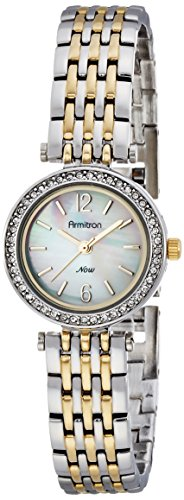 Armitron Women's 75/5229MPTT Swarovski Crystal Accented Two-Tone Bracelet Watch