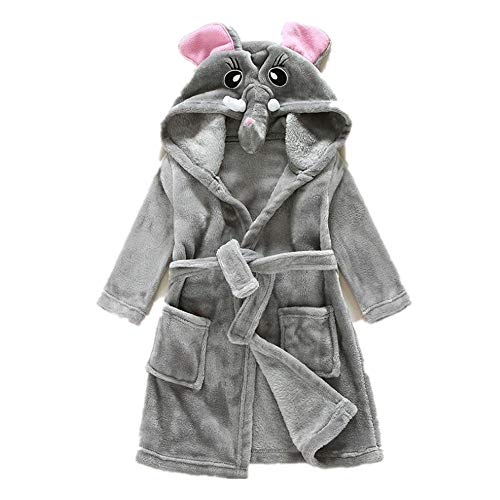 Fancyww Children's Holiday Cute Christmas Deer Robe Performance Clothing(gray-90-for Height(90cm))