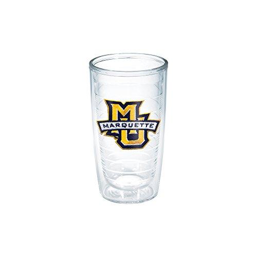 Tervis 1006768 Marquette University Emblem Individual Tumbler, 16 oz, Clear
