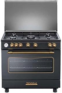 Cucina a gas 80x50x85 cm inox 5 fuochi con forno a gas - Regal ...