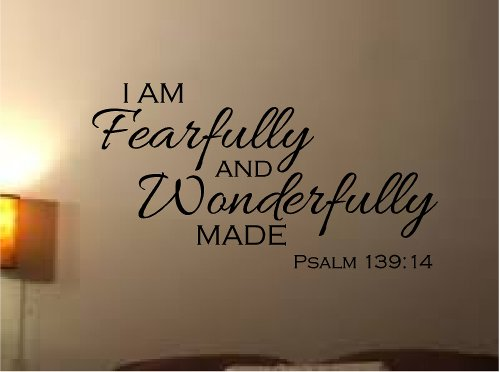 FEARFULLY WONDERFULLY PSALM CHRISTIAN SCRIPTURAL product image