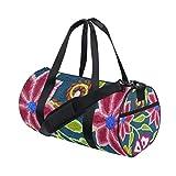 Flowers Women's Duffel Bag Travel Tote Luggage Bag Gym Sports Luggage Bag