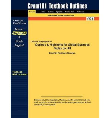 Outlines & Highlights for Global Business Today by Hill, ISBN: 9780073381398 (Paperback) - Common
