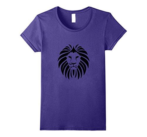 Women's Lion Face Hair T-Shirt Zoo Animal Africa Tiger Bi...