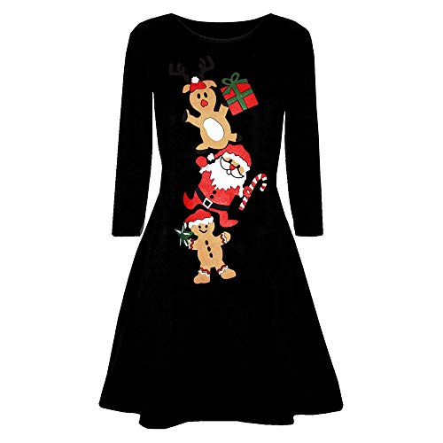 Women's Long Sleeve Loose Swing Casual Dress Pullover Swing T Shirt Dress HunYUN -