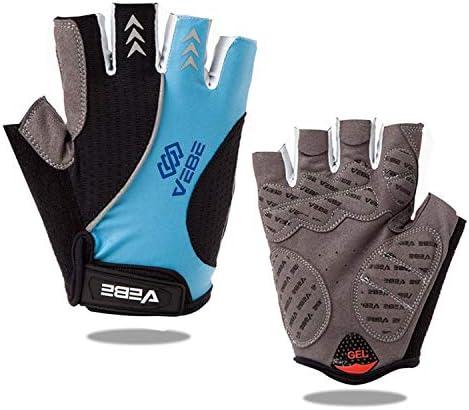 Mens Half Finger Gloves Cycling Bike Finger Less Bicycle MTB Shock-absorptiona