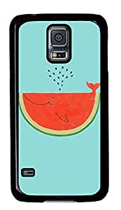 Samsung Galaxy S5 Cases & Covers - Watermelon Whale PC Custom Soft Case Cover Protector for Samsung Galaxy S5 - Black