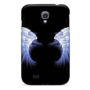 SuQJcQt5551bTjvJ Anti-scratch Case Cover Jeffrehing Protective Blue Angel Wings Case For Galaxy S4