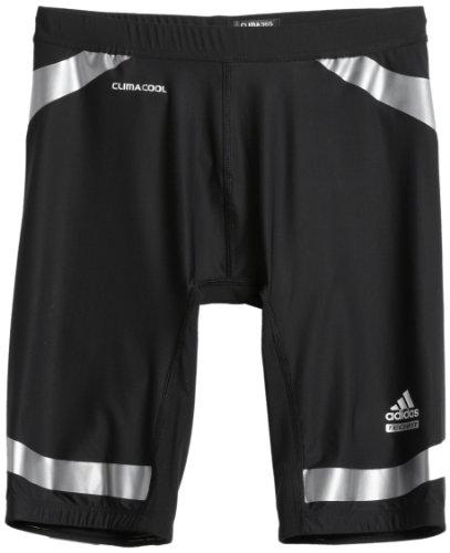 adidas Men's Techfit Powerweb Compression Short Tight (Black, Light Onix, Large) ()