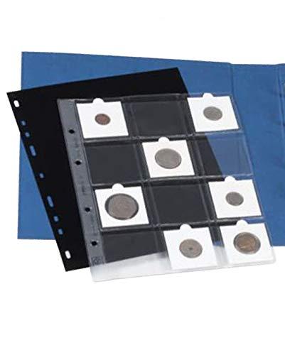 15 Feuilles 12 caisses /à Monnaie Leuchtturm Feuilles pour pi/èces Optima K50 Transparentes