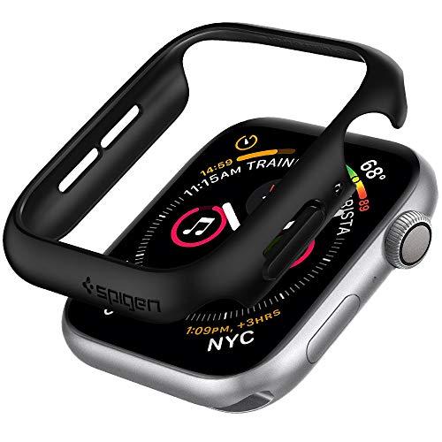 Pack Fits Apple - Spigen Thin Fit Designed for Apple Watch Case for 44mm Series 4 (2018) - Black