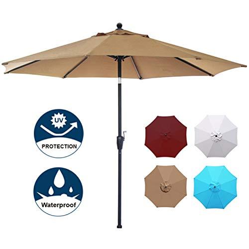 Blissun 9' Patio Umbrella Alumin...