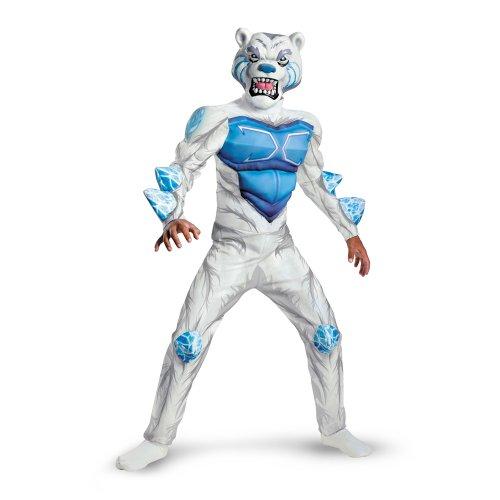 Monsuno Lock Monster Deluxe Costume, White/Blue, Large