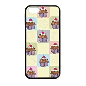Cake Chocolate & Cherry Case for iPhone 5 5s protective Durable black case by icecream design