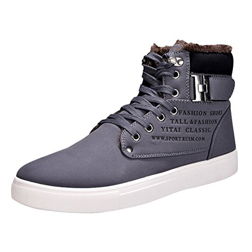Casual Espadrilles Minetom Freizeitschuhe Mode Trainer Lace Sportschuhe Schuhe Grau Herbst Turnschuhe Druck Sneaker Winter up Herren Englischen wqqPUrtxO