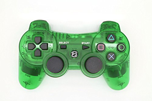 Transparent Game Controller (Fivestar Transparent Wireless Remote PS3 Controller Gamepad for use with PlayStation 3 (Green))