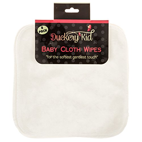 - 8 Pack Bamboo Baby Washcloths – Cloth Wipes Set By Duckery Kid