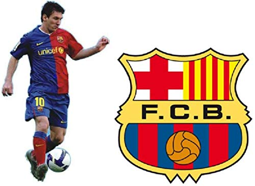 Messi and Barcelona FC Wall Decals - 2 Jumbo Vinyl Wall Stickers - (Messi 34
