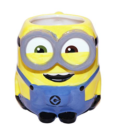 (Zak Designs DESZ-8511 Minions Movie Bob Ceramic sculpted Mug, Multicolor)