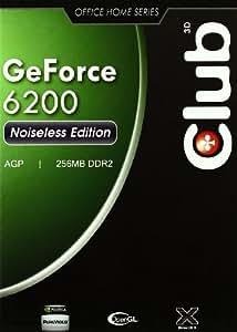 CLUB3D CGN-626 - Tarjeta gráfica (GeForce 6200, 1920 x 1440 Pixeles, NVIDIA, DDR2, 64 Bit, 800 MHz)