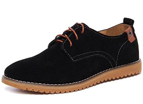 Dadawen Men's Black(B) Leather Oxford Shoe - 6 D(M) ()