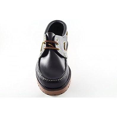 Hombre Cordones De Marrones Clásicos Para Piso Zapatos Nauticos Piel Nnv0wymO8
